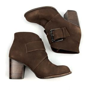 SPLENDID Soft Leather Ankle Buckle Boots, Size 9